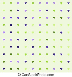 hearts pattern on green background - Simple hearts pattern....