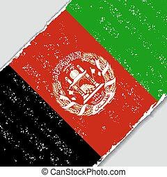 Afghanistan grunge flag. Vector illustration. - Afghanistan...