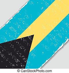 Bahamas grunge flag. Vector illustration. - Bahamas grunge...