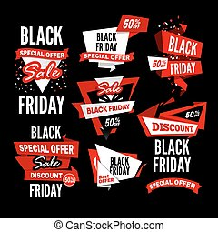 Black Friday Sale. Vector illustration