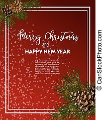 Christmas greeting-card with fir-tree