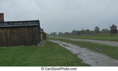 Barracks for Prisoners in Nazi Camp - Barracks of prisoners...