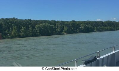 Forests on Banks of Danube - Green forests on the banks of...