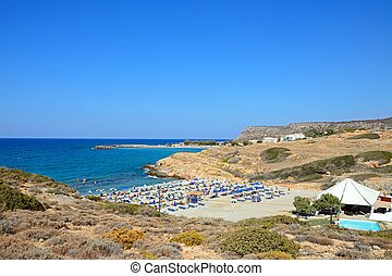 Boufos beach, Sissi, Crete. - Elevated view of Boufos beach...