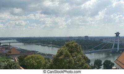 Danube River in Bratislava - The Danube river in Bratislava...