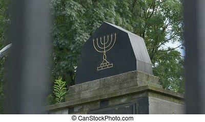 Funeral Monument Jewish Menorah - A funeral jewish monumnet...