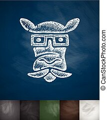 hipster animal icon. Hand drawn vector illustration....