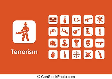 Set of terrorism simple icons - It is a set of terrorism...