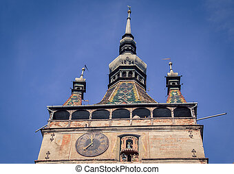 clock tower Sighisoara - Medieval clock tower in the town of...