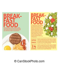 breakfast food - This design is suitable for a brochure or...