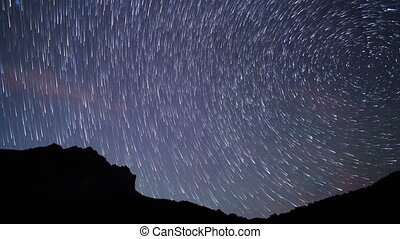 Traces of the stars. Time Lapse . UltraHD (4K)