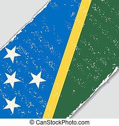 Solomon Islands grunge flag. Vector illustration. - Solomon...