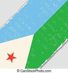 Djibouti grunge flag. Vector illustration. - Djibouti grunge...