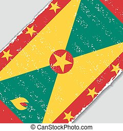 Grenada grunge flag. Vector illustration. - Grenada grunge...