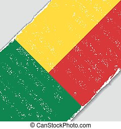Benin grunge flag. Vector illustration. - Benin grunge flag...