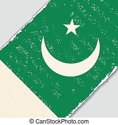 Pakistani grunge flag. Vector illustration. - Pakistani...