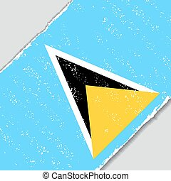 Saint Lucia grunge flag. Vector illustration. - Saint Lucia...