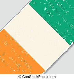 Cote d Ivoire grunge flag. Vector illustration. - Cote d...