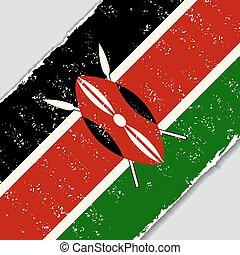 Kenyan grunge flag. Vector illustration. - Kenyan grunge...