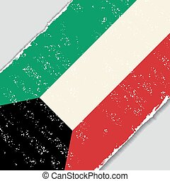 Kuwait grunge flag. Vector illustration. - Kuwait grunge...