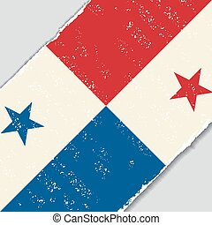 Panama grunge flag. Vector illustration. - Panama grunge...