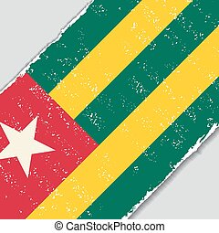 Togo grunge flag. Vector illustration. - Togo grunge flag...