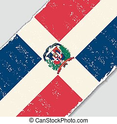 Dominican Republic grunge flag. Vector illustration. -...