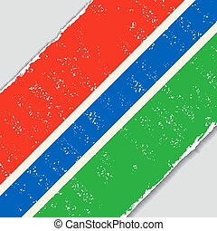 Gambia grunge flag. Vector illustration. - Gambia grunge...