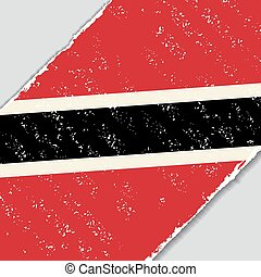 Trinidad and Tobago grunge flag. Vector illustration. -...