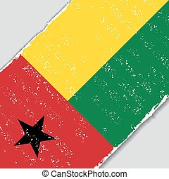 Guinea-Bissau grunge flag. Vector illustration. -...