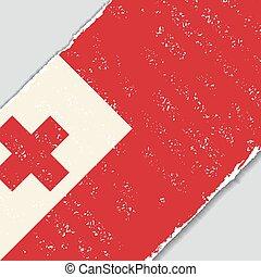 Tonga grunge flag. Vector illustration. - Tonga grunge flag...