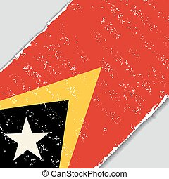 Timor-Leste grunge flag. Vector illustration. - Timor-Leste...
