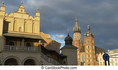 Buildings in Oldtown Krakow - Oldtown Krakow, Poland,...