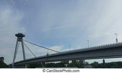Bridge of the Slovak National Uprising in Bratislav - View...