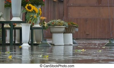 Raining at the Flower Market - Raining on the oldtown...