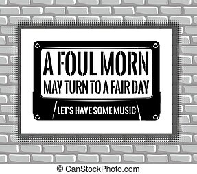 positive motivational poster with text on audiocassette on...