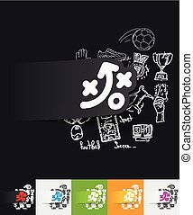 tactics paper sticker with hand drawn elements - hand drawn...