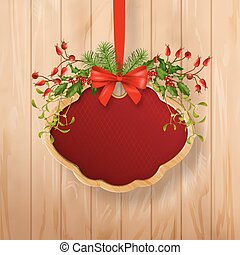 Vector Christmas Sign Board