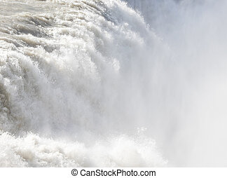 Gullfoss waterfall - Iceland - Detail - Gullfoss waterfall...