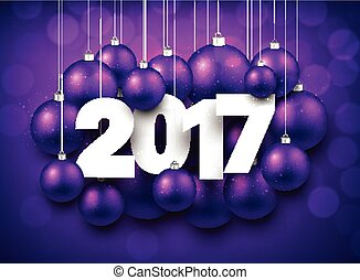 Purple 2017 New Year background. - Violet 2017 New Year...