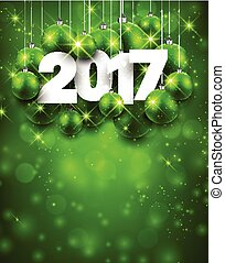 Green 2017 New Year background.