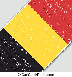 Belgian grunge flag. Vector illustration. - Belgian grunge...