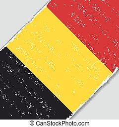Belgian grunge flag. Vector illustration. - Belgian grunge...