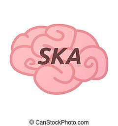 Isolated brain icon with the text SKA - Illustration of an...