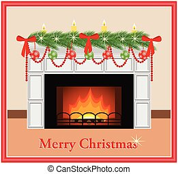 Merry Christmas card. - Merry Christmas - greeting card....