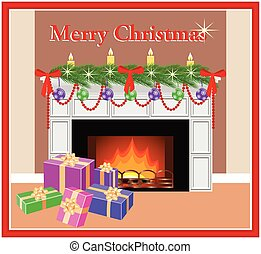 Merry Christmas greeting card. - Merry Christmas greeting...