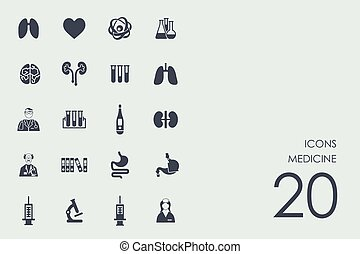Set of medicine icons - medicine vector set of modern simple...