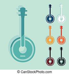 Flat design: banjo