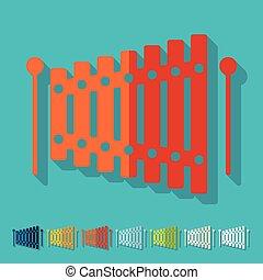design:, lakás, xilofon