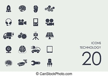Set of technology icons - technology vector set of modern...